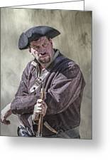 First Line Of Defense The Frontiersman Greeting Card by Randy Steele