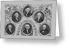 First Six U.s. Presidents Greeting Card by War Is Hell Store