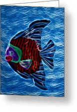 Fish In Water Greeting Card by Shane Bechler