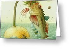 Fish Greeting Card by Kestutis Kasparavicius