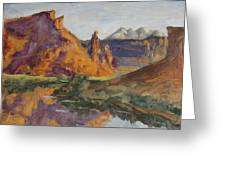 Fisher Tower Castle Valley Moab Utah Greeting Card by Zanobia Shalks