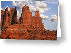 Fisher Towers Greeting Card by Utah Images