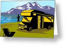 Fisherman Caravan Greeting Card by Aloysius Patrimonio