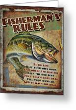 Fisherman's Rules Greeting Card by JQ Licensing
