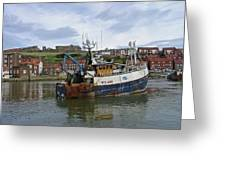 Fishing Trawler Wy 485 At Whitby Greeting Card by Rod Johnson