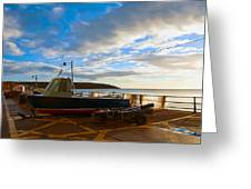 Fishing Village Filey Greeting Card by Svetlana Sewell