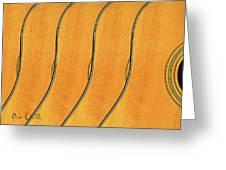 Five Fender Guitars Greeting Card by Bob Orsillo