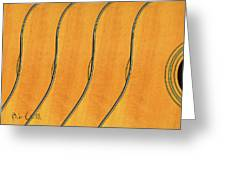 Five Fender Guitars Greeting Card by Bob Orsillo
