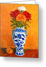 Five Roses II Greeting Card by Pete Maier