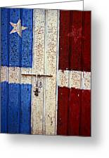 Flag Door Greeting Card by Garry Gay