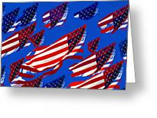 Flags American Greeting Card by David Lee Thompson