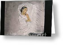 Flamenco Greeting Card by Lizzy Forrester