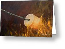 Flaming Greeting Card by Joi Electa