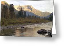 Flathead River Greeting Card by Richard Rizzo