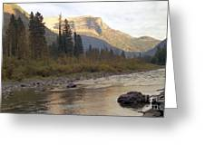 Flathead River Greeting Card by Richard Rizzo