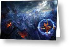 Flight of the Dying Sun Greeting Card by Philip Straub