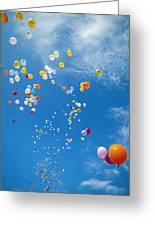 Float Away Greeting Card by Bob Abraham - Printscapes