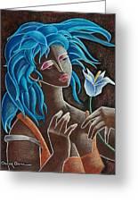 Flor Y Viento Greeting Card by Oscar Ortiz