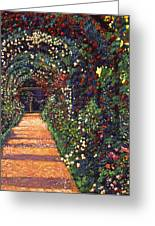 Floral Canopy Greeting Card by David Lloyd Glover
