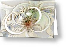 Floral Swirls Greeting Card by Amanda Moore