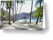 Florida Beach Greeting Card by Murphy Elliott