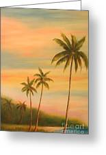 Florida Palms Trees Greeting Card by Gabriela Valencia