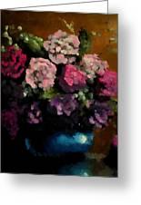 Flower Arrangement Greeting Card by Ahmed Darwish