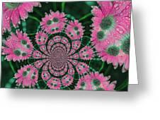 Flower Design Greeting Card by Karol Livote