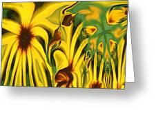 Flower Fun Greeting Card by Linda Sannuti