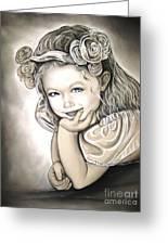Flower Girl Greeting Card by Anastasis  Anastasi