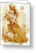 Flower Girl Greeting Card by Brian Kesinger