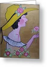 Flower Girl Greeting Card by Leslie Manley