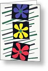 Flowers Three Greeting Card by Teddy Campagna