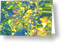Fluttering Of Color Greeting Card by Sybil Staples
