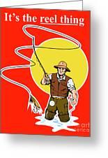Fly Fisherman  Greeting Card by Aloysius Patrimonio