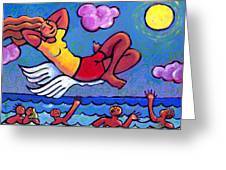 Flying by the Seat of My Pants Greeting Card by Angela Treat Lyon