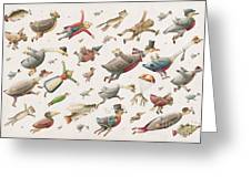 Flying Greeting Card by Kestutis Kasparavicius