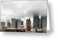 Fog Accents Of Seattle Wa Greeting Card by Christine Till