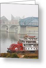 Foggy Chattanooga Greeting Card by Tom and Pat Cory