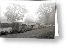 Foggy Morning At Burnside Bridge Greeting Card by Judi Quelland