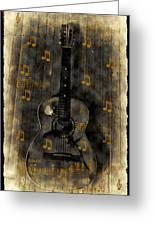 Folk Guitar Greeting Card by Bill Cannon