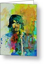 Foo Fighters Greeting Card by Naxart Studio