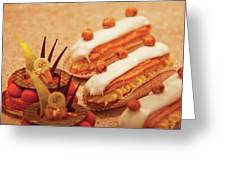 Food - Cake - Little Cakes Greeting Card by Mike Savad