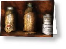 Food - Corn Yams And Oatmeal Greeting Card by Mike Savad