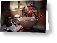 Food - The Morning Chores Greeting Card by Mike Savad