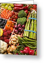 Food Compartments  Greeting Card by Garry Gay