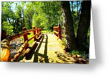 Foot Bridge Greeting Card by Cheryl Young