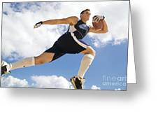 Football Athlete II Greeting Card by Kicka Witte - Printscapes