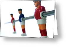 Football figurines Greeting Card by BERNARD JAUBERT