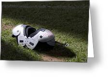 Football Shoulder Pads Greeting Card by Tom Mc Nemar